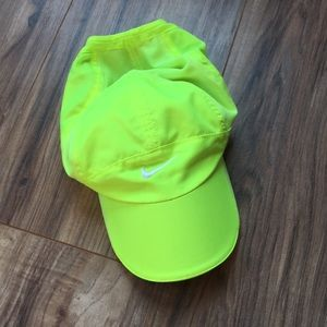 c30ac3d8cfeca Nike Accessories - Nike Featherlight Dri-fit Neon Yellow Cap